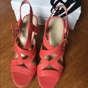 NIB Nine West Espadrilles sandals sz 6.5 Leather
